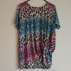 Multi Colored Leopard Print Top